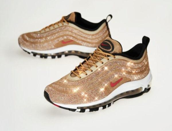 Nike Air Max 97 LX femme Gold Swarovski Crystal