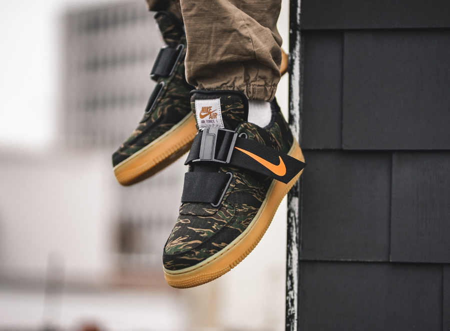 Nike Carhartt Air Force One Utility Low Premium Green Camo (4)