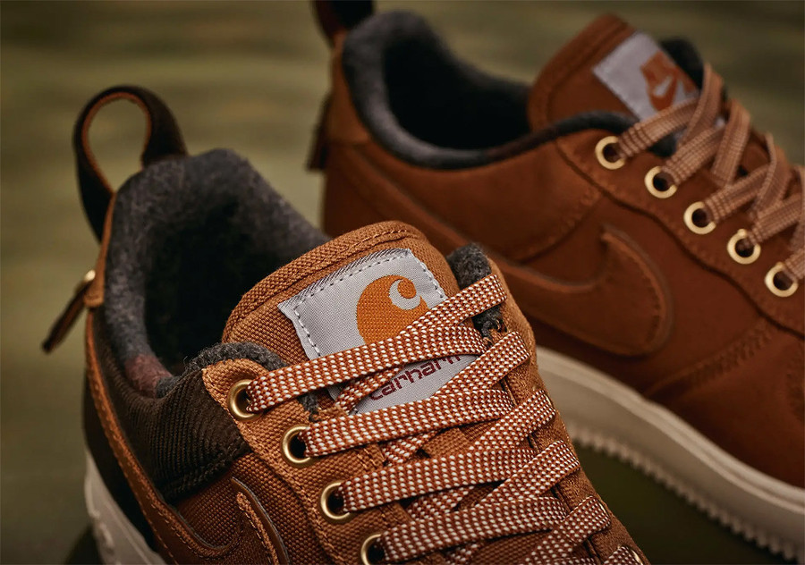 Nike Carhartt Air Force One basse 2018 Ale Brown (1)