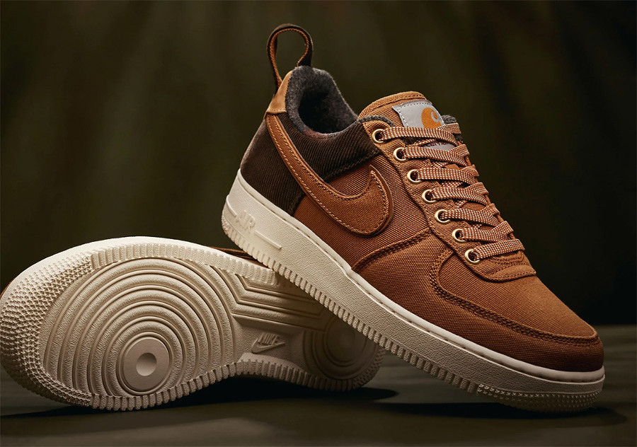 Nike Carhartt Air Force One basse 2018 Ale Brown (4)