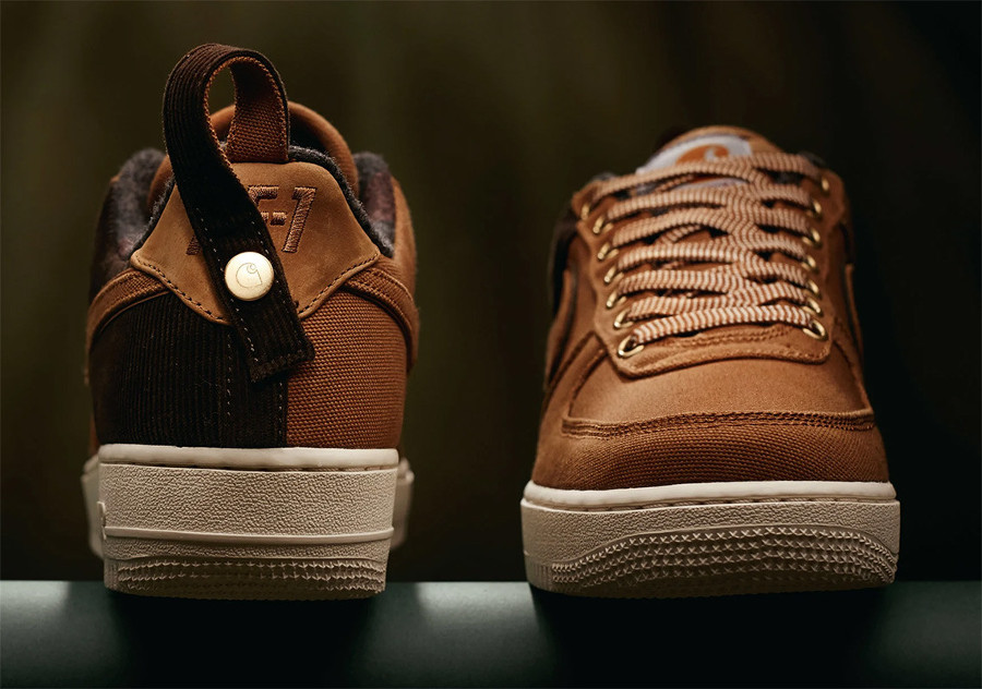 Nike Carhartt Air Force One basse 2018 Ale Brown (5)