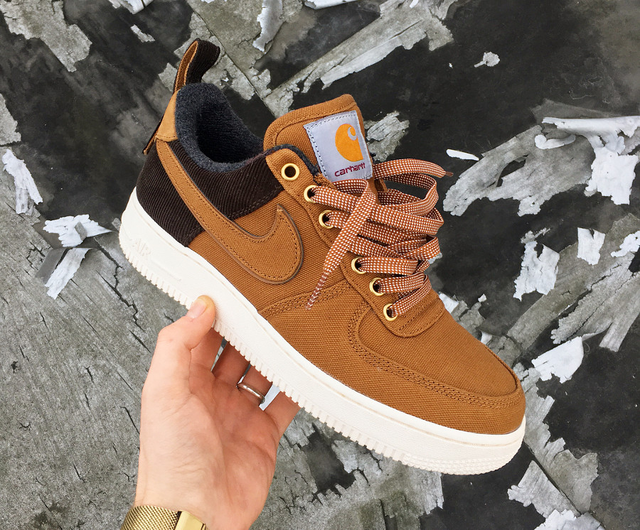 Nike Carhartt Air Force One basse 2018 Ale Brown (6)