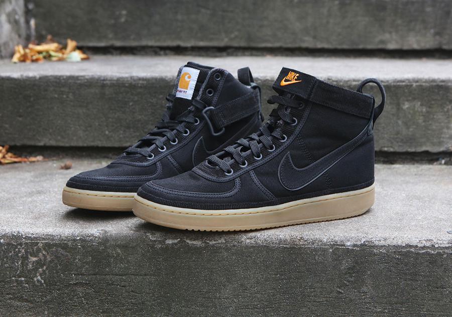 Nike Carhartt Vandal Hi en toile noire pour homme (7)