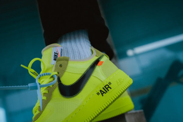nike air force off white jaune fluo