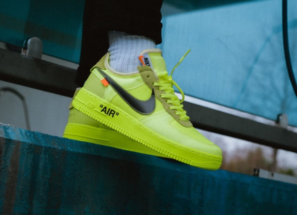 Avis] Nike Air Force One Off White 'Black Cone & Volt' : où