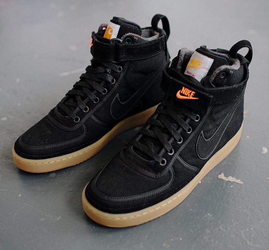 Nike Vandal High Supreme PRM Carhartt WIP noire Black Gum