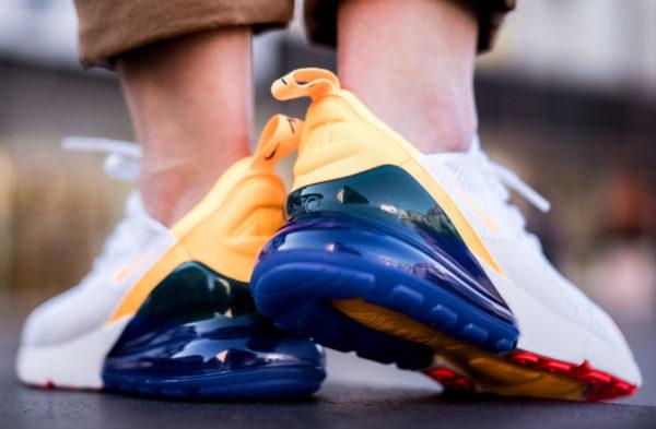 Nike Wmns Air Max 270 blanche jaune violette et rouge (1)