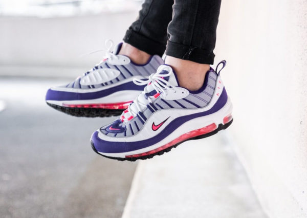 Nike Wmns Air Max 98 Raptors White Racer Pink Reflect Silver