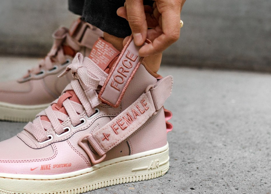 Avis] Nike Wmns Air Force 1 High Utility Rose 'Particle Beige'