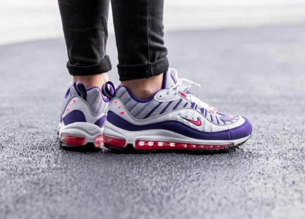 Nike Womens Air Max 98 White Racer Pink (4)