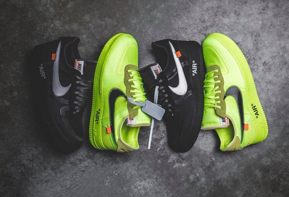 Off White x Nike Air Force 1 The Ten 'Black Cone & Volt'