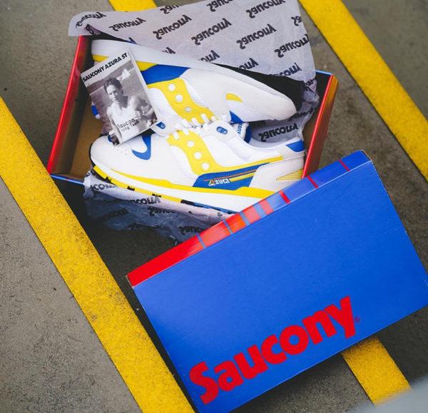 Saucony Azura ST OG blanche jaune et bleue de 88 (1)