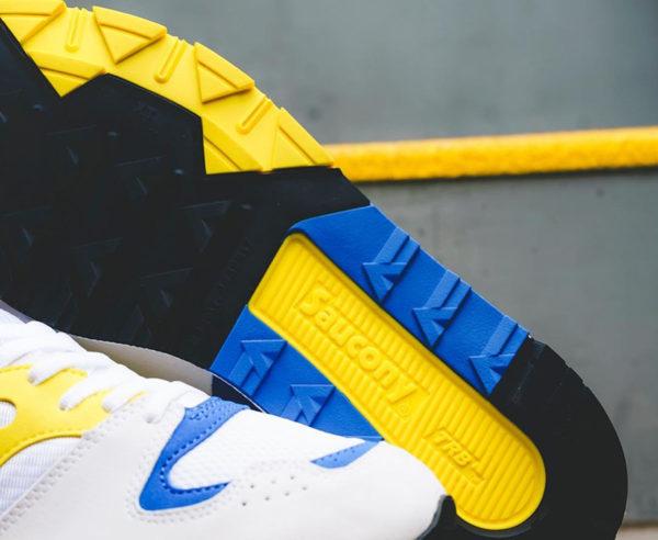 Saucony Azura ST OG blanche jaune et bleue de 88 (3)