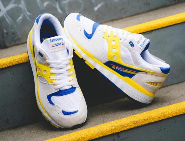 Saucony Azura ST OG blanche jaune et bleue de 88 (4)