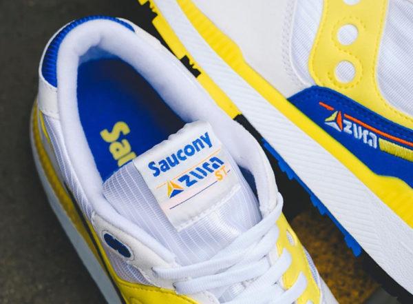 Saucony Azura ST OG blanche jaune et bleue de 88 (5)