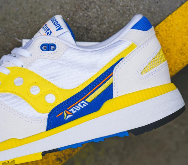 Saucony Azura ST OG blanche jaune et bleue de 88 (7)