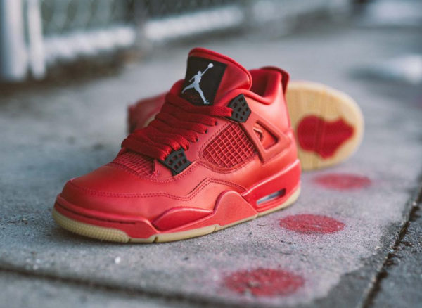 Womens Air Jordan 4 Retro Singles Day Fire Red Gum (1)