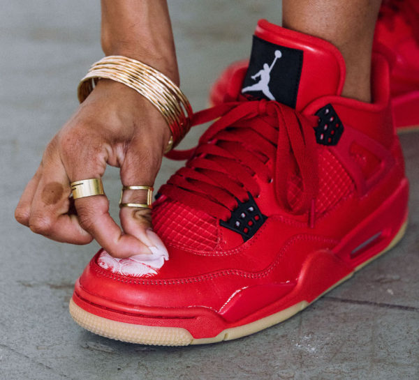 Womens Air Jordan 4 Retro Singles Day Fire Red Gum (2)
