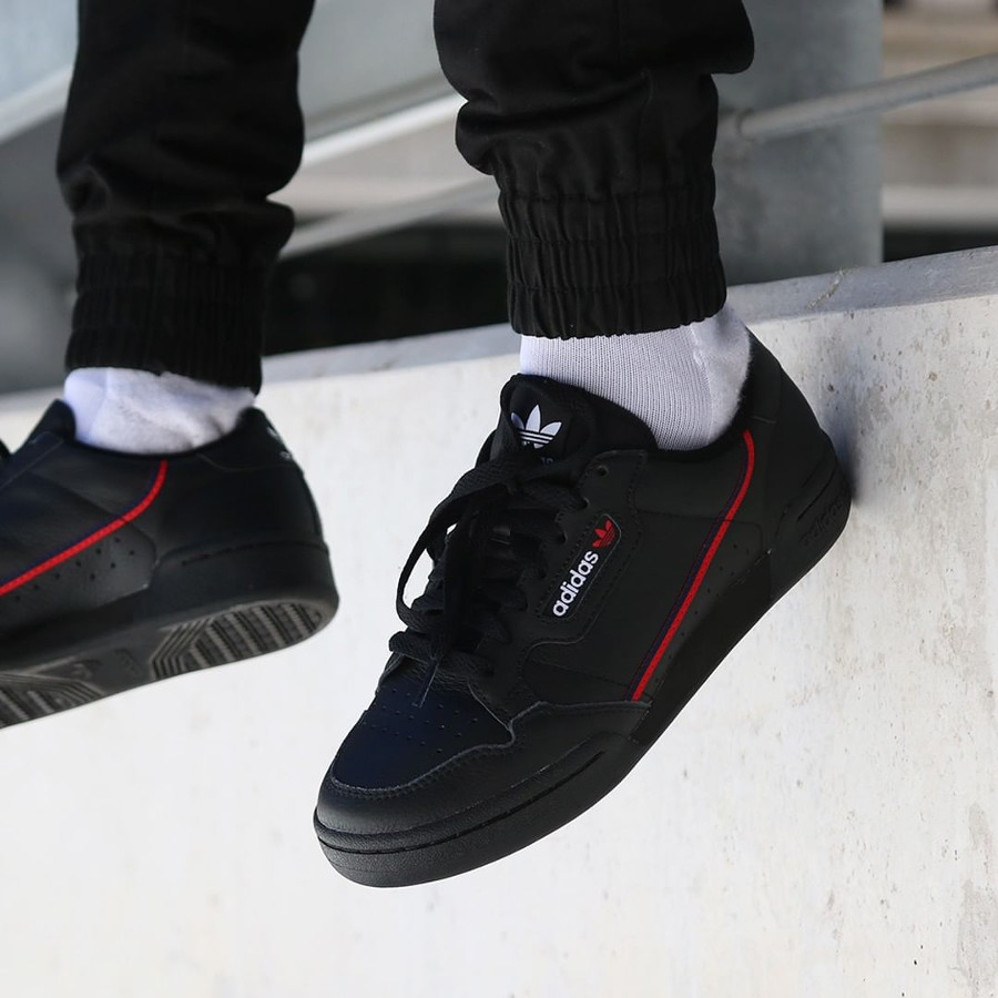 Adidas Continental 80 Rascal noire Black Red 2019