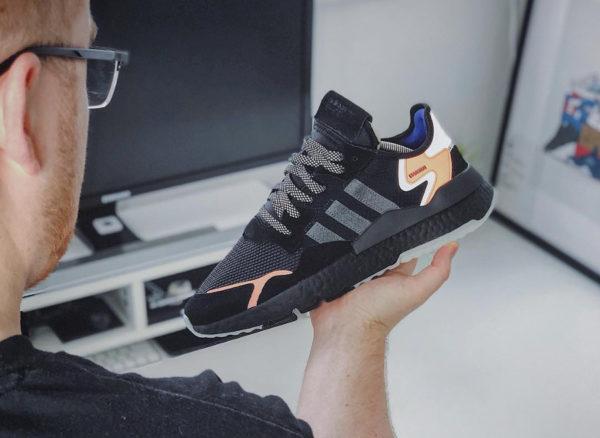 Adidas Nite Jogger Boost réfléchissante noire et orange (1)