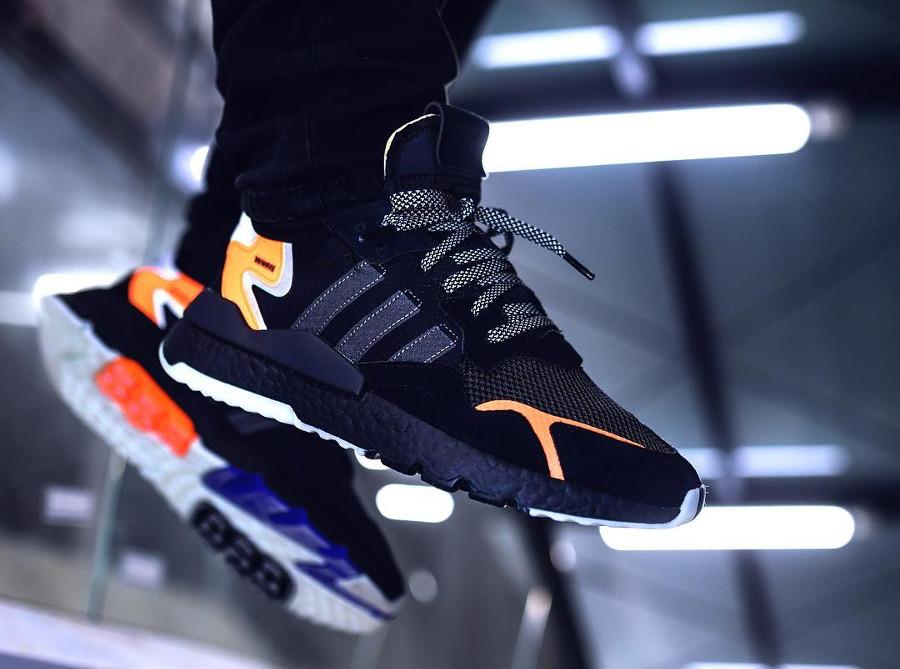 Adidas Nite Jogger Boost réfléchissante noire et orange (4)
