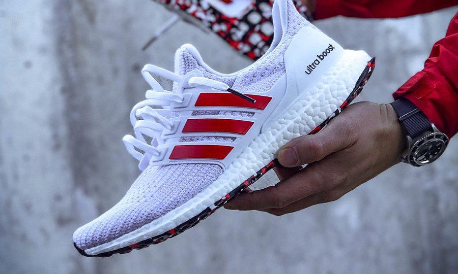 Adidas Ultra Boost 4.0 Marble 'White Active Red' (couv)