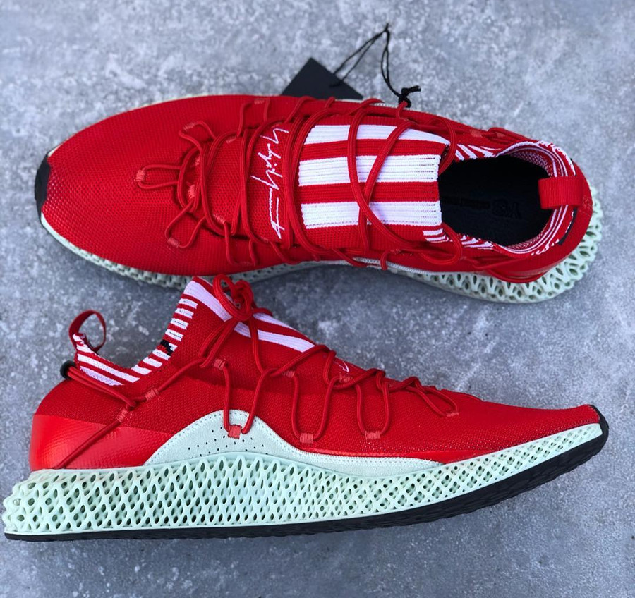 Adidas Y-3 Futurecraft 4D 'Red Aero Green' (1)