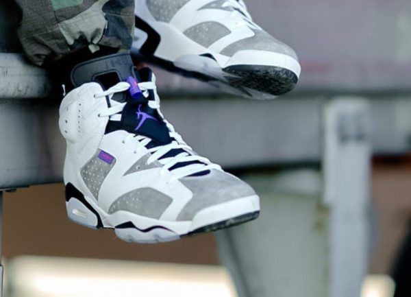 Air Jordan 6 Retro Flight Nostalgia Flint Grey on feet (1)