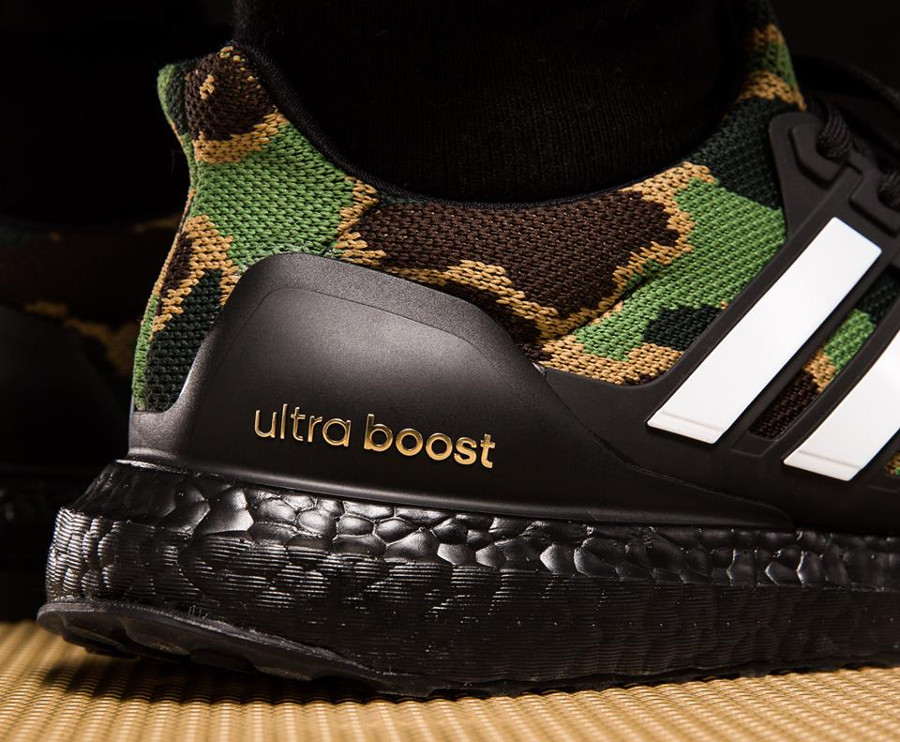 Bape x Adidas UltraBoost Green Camo Super Bowl (1)
