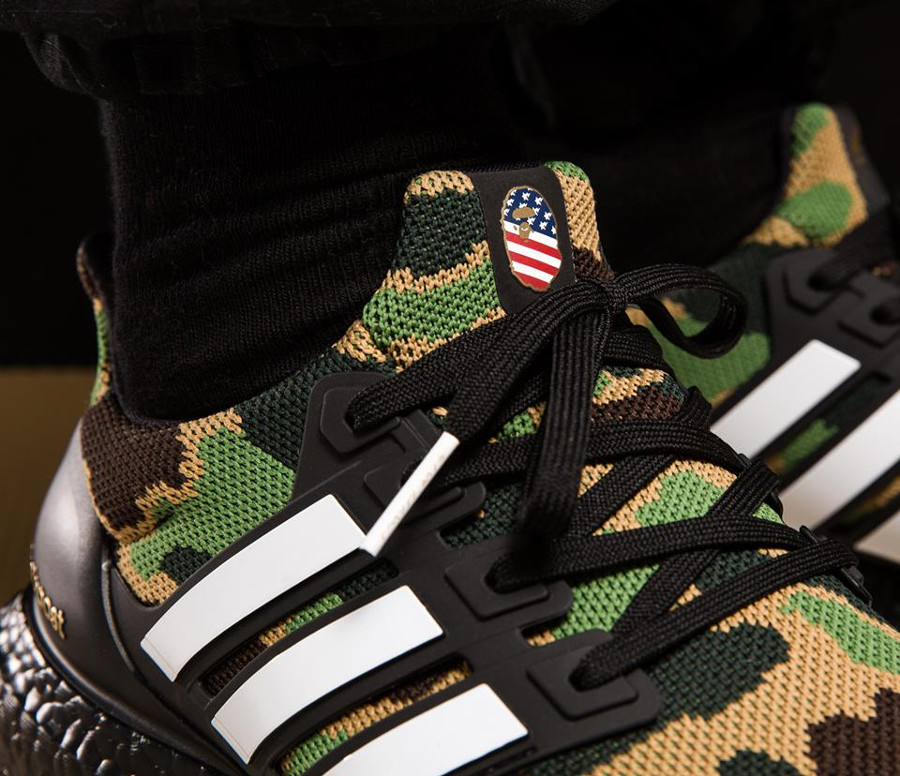 Bape x Adidas UltraBoost Green Camo Super Bowl (2)