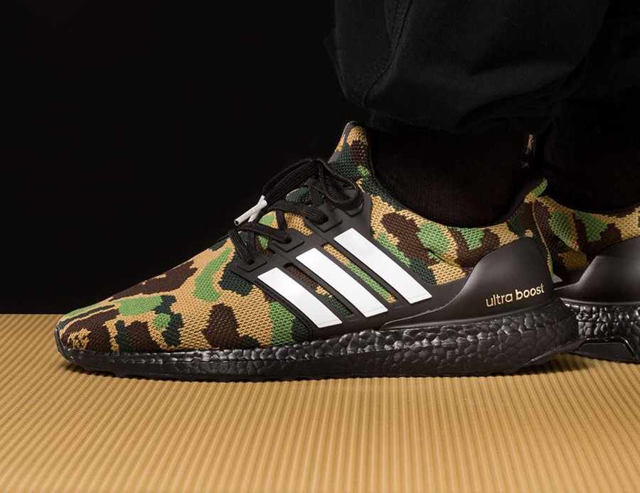 Bape x Adidas UltraBoost Green Camo Super Bowl (3)