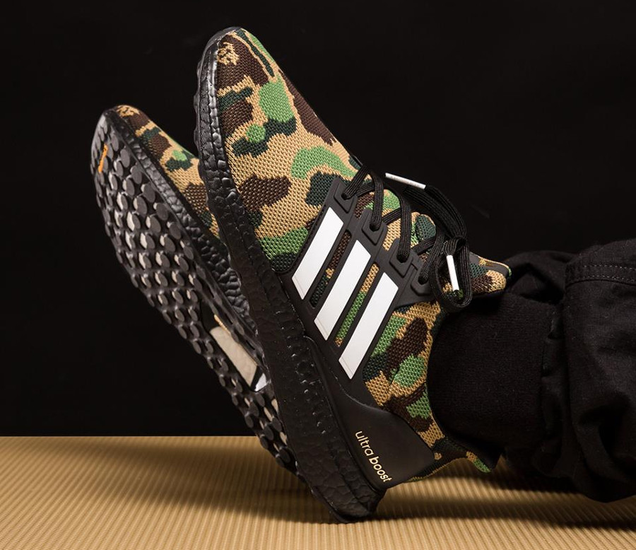 Bape x Adidas UltraBoost Green Camo Super Bowl (4)