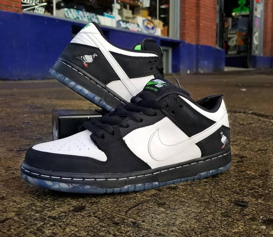 Jeff Staple x Nike Dunk Pro Low SB blanche et noire (3)