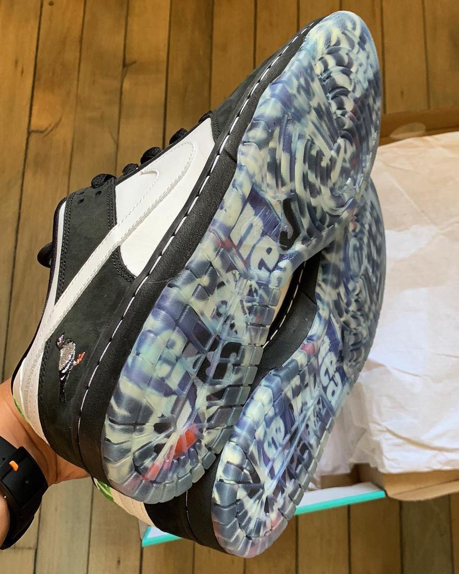 Jeff Staple x Nike Dunk Pro Low SB blanche et noire (6)