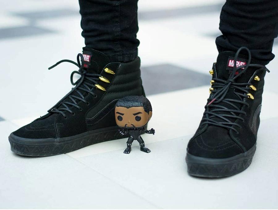 Marvel x Vans SK8 Hi Black Panther