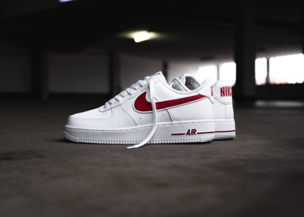 Nike Air Force 1 '07 3 Low 'White Gym Red' (homme)