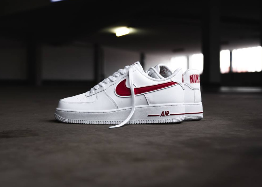 Nike Air Force 1 '07 3 'White Gym Red'