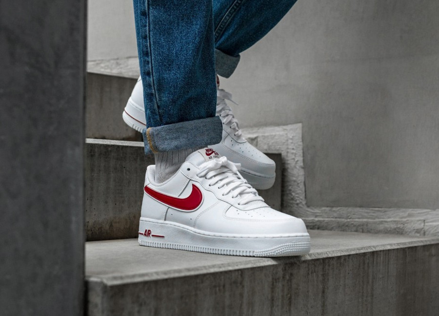 Avis : Nike Air Force 1 '07 3 Low 'White Gym Red' (homme)
