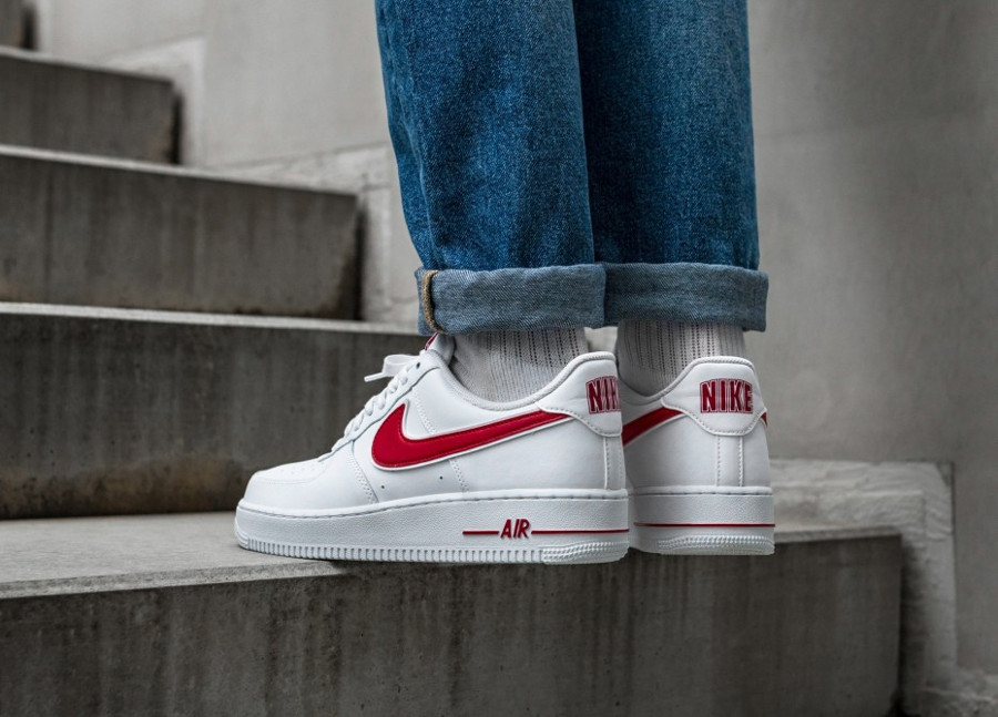 Nike Air Force 1 '07 3 'White Gym Red' (3)