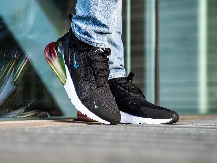 Nike Air Max 270 SE 'Black Laser Orange' Air270 Allover Print