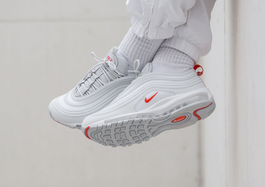 Nike Air Max 97 Platine Pure équipe orange (4)