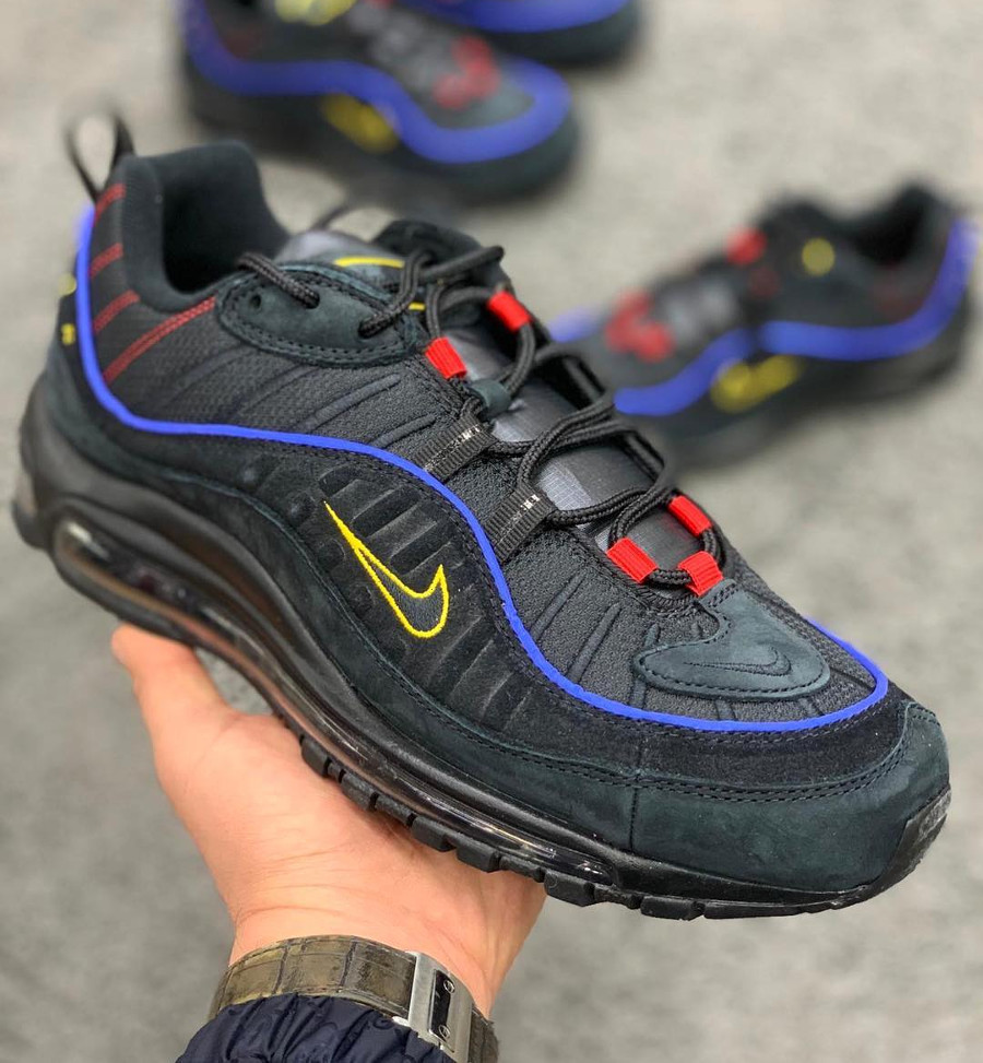 new styles e0b0c fe99e Nike Air Max 98 Black Amarillo (1)