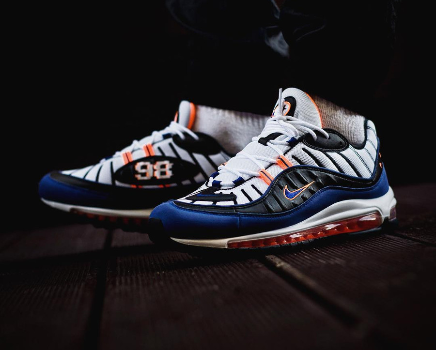 Nike Air Max 98 'Pixel Knicks' Deep Royal Blue Total Orange