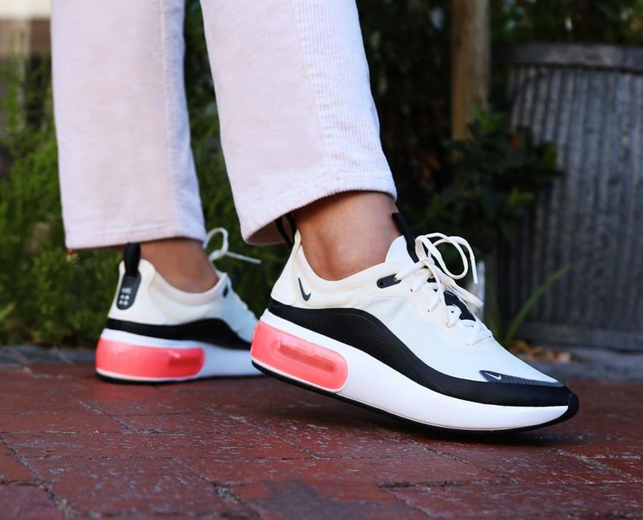 Nike Air Max Dia SE 'Pale Ivory Bright Crimson Black' on feet