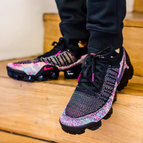 Nike Air Vapormax Flyknit 2.0 Multicolor Black Racer Pink