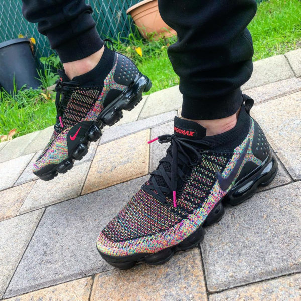 Nike Air Vapormax Flyknit 2.0 noire Black Multicolor (4)