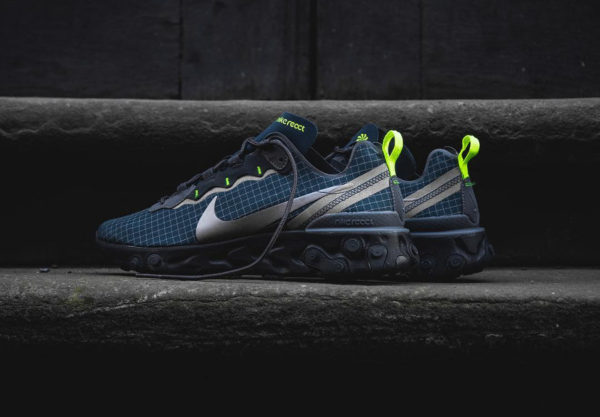 Nike React Element 55 Grid homme Armory Navy Volt