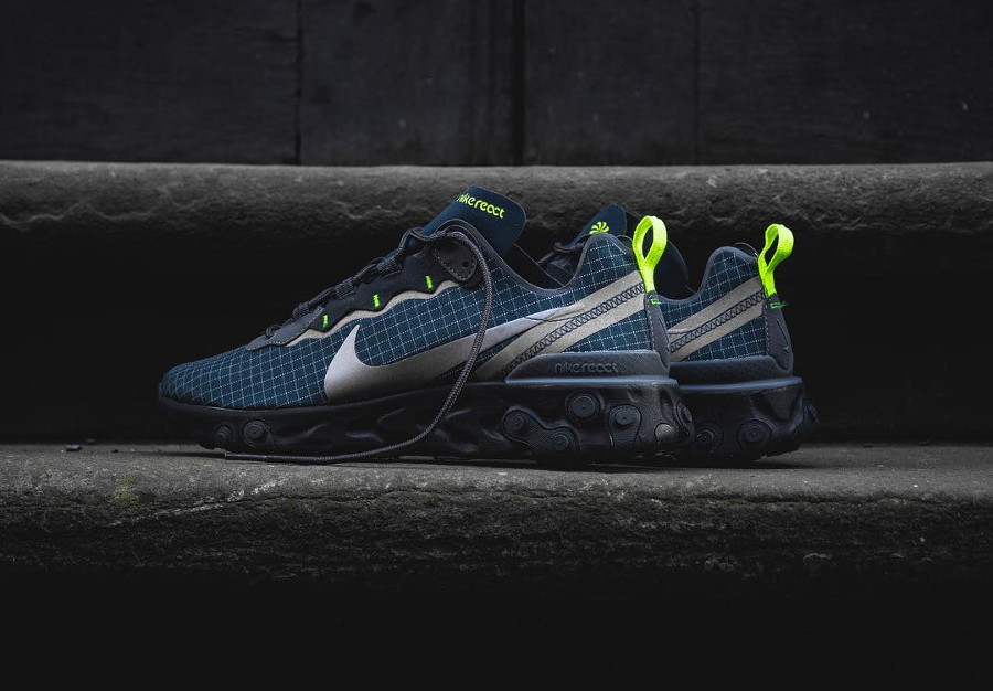 Nike React Element 55 'Armory Navy Volt'