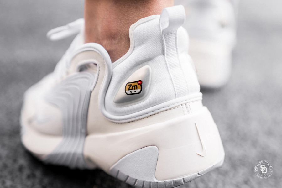 Nike Wmns Zoom 2K Sail Black White on feet (1)
