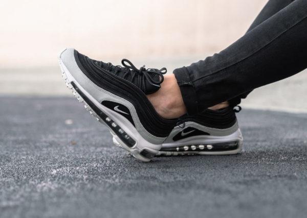 Nike Womens Air Max 97 PRM en daim noir et gris (6)